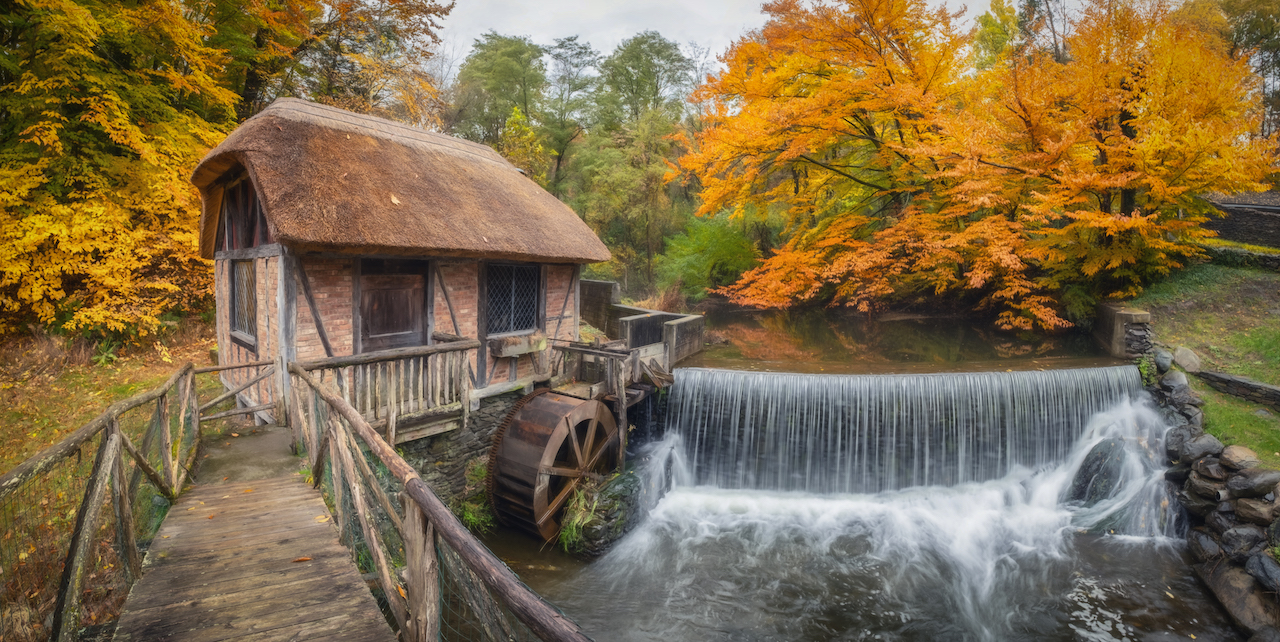 The Gomez Mill in Newburgh, NY, in autumn