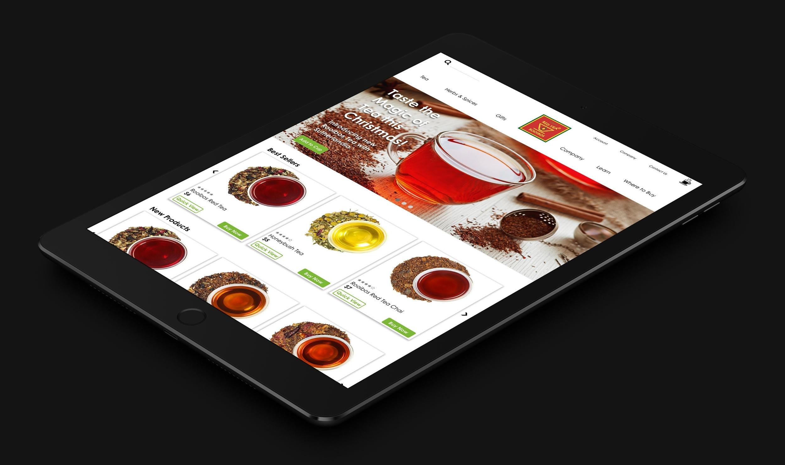 African Red Tea website redesign -