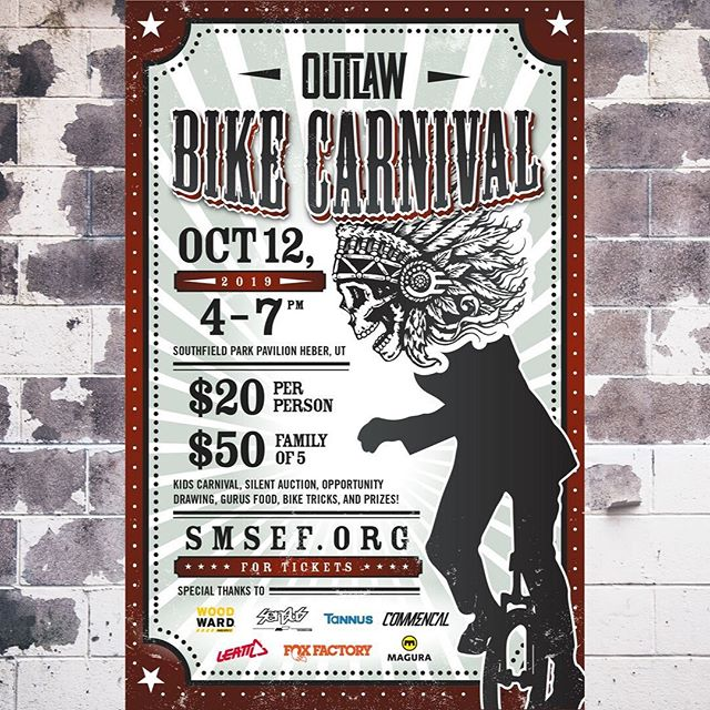 Come support the @outlawmtb team next Saturday October 12th in Heber! Bring your whole family for a kids carnival, silent auction and great food! Hang out with new and old friends all while supporting a great cause! #higherlevelhumans  Tickets and more info at smsef.org  #outlawmtb #smsef #mountainbiking #mountainsports