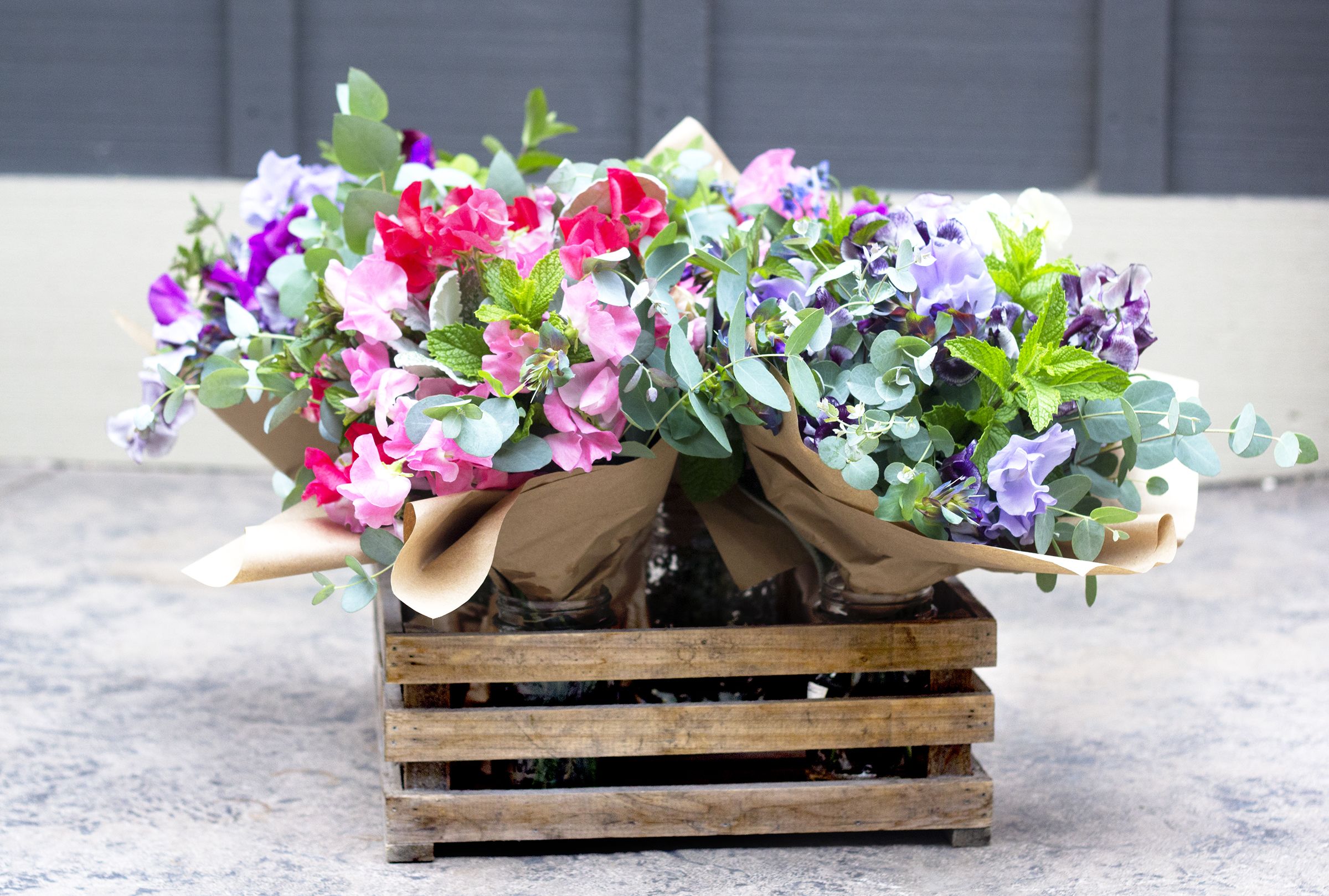 Sweet Peas & Herbs - make absolutely beautiful & fragrant bouquets that are unique & special! Are you looking for something out of the ordinary, not your 'run of the mill' grocery store bouquet?? We can help you!