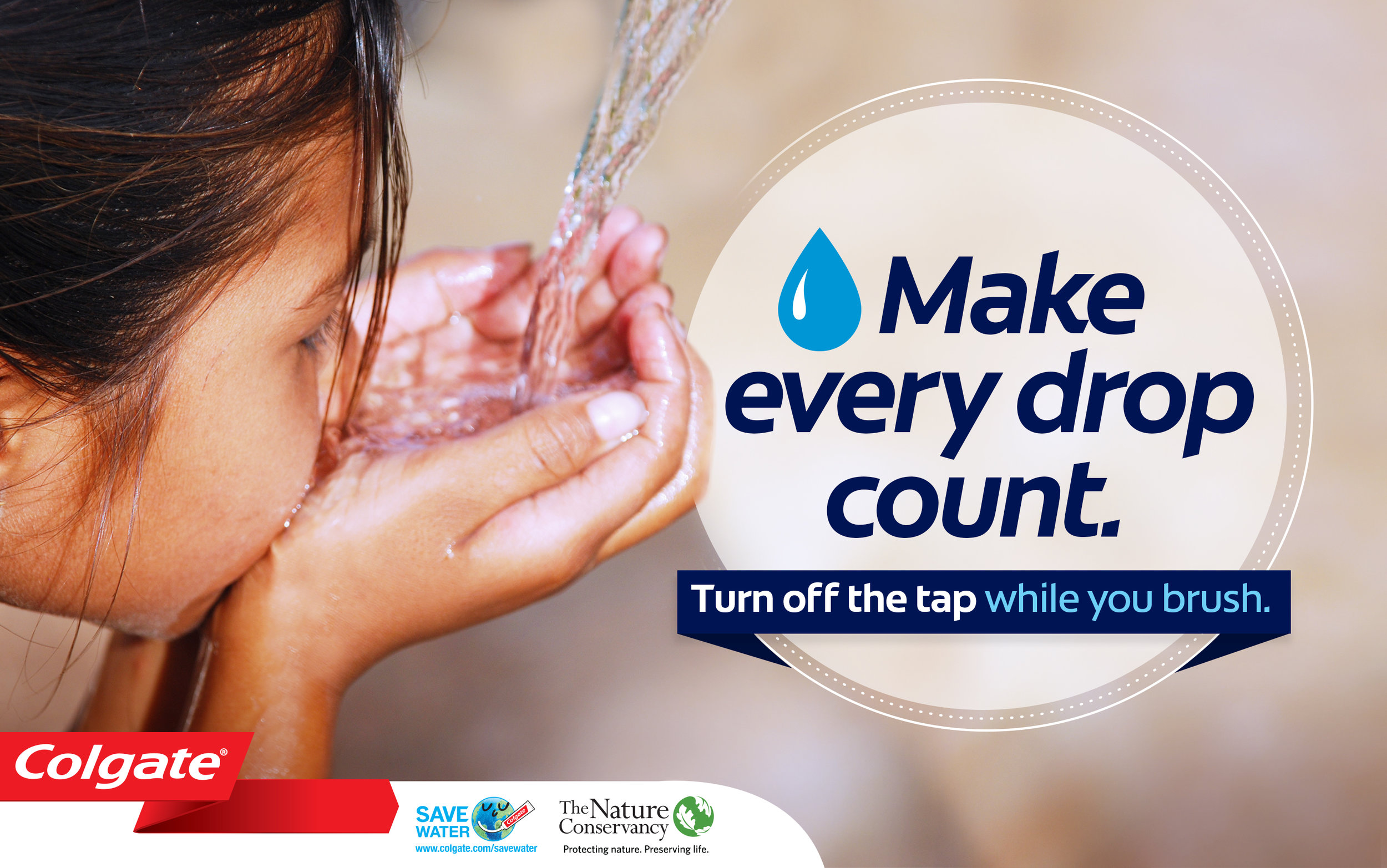 Final Key Visual for the Global Save Water campaign