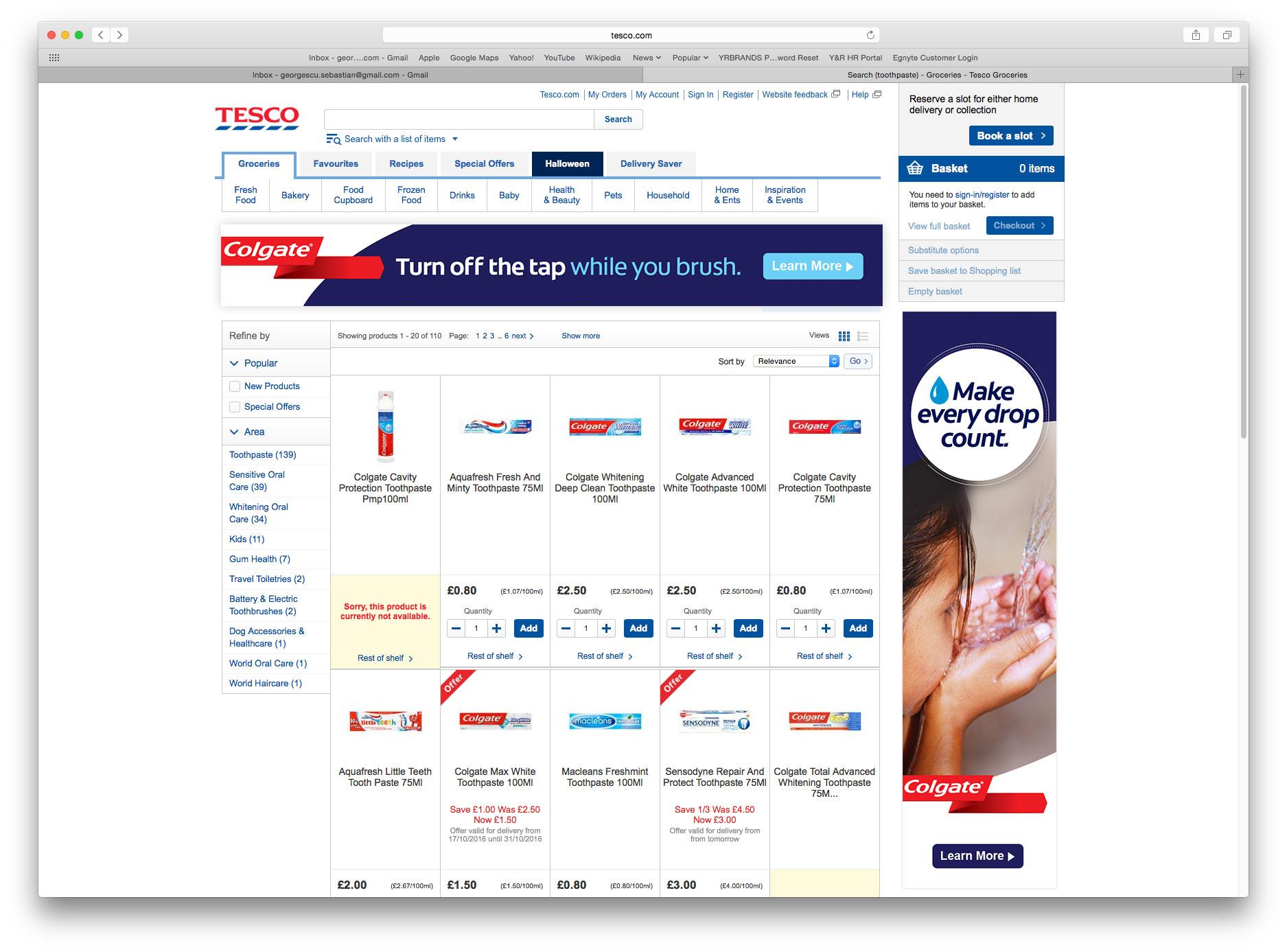 Digital banner activations for Tesco