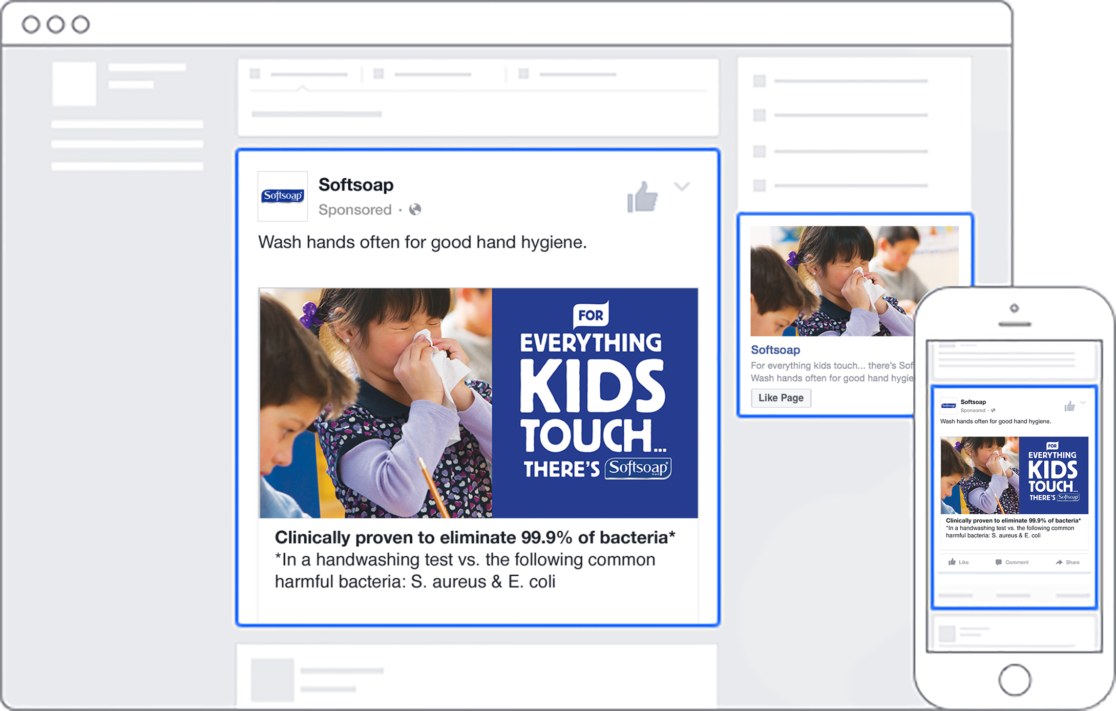 Facebook activations during cough, cold and flu season