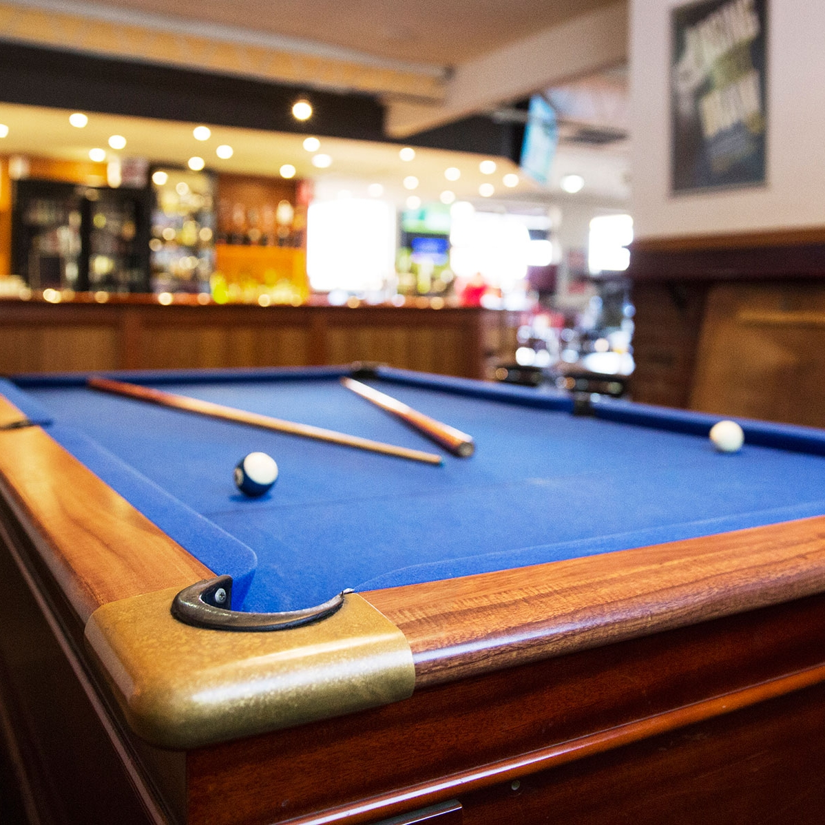 Pool tables and entertainment