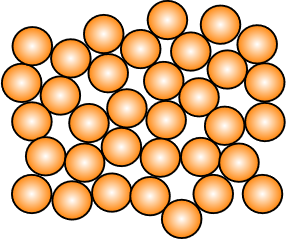 Amorphous materials have disordered atomic structures.