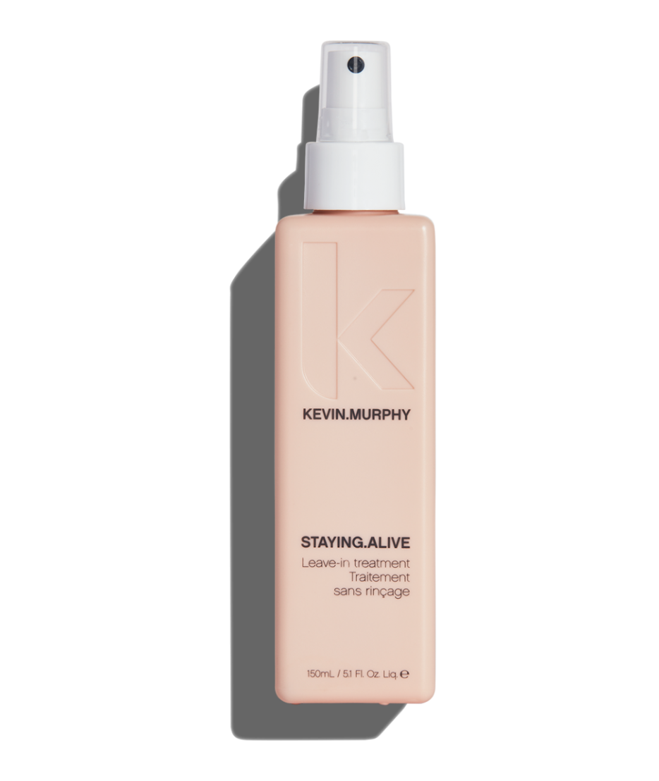 STAYING.ALIVE seals the cuticle using Hedera Helix Leaf Extracts. Multiple antioxidants too long to pronounce strengthen, condition, and moisturize. My favorite is the grapefruit seed extract that helps repair dry damaged hair. Voila!