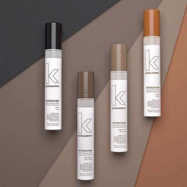 The secret of anyone with grey hair that is colored is a good root spray for right before your next appointment. The KEVIN.MURPHY RETOUCH.ME sprays come in 4 colors and can help to blend those sparkles in between color appointments.