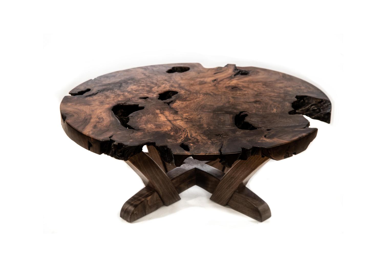 Redwood Burl Coffee Table Willard