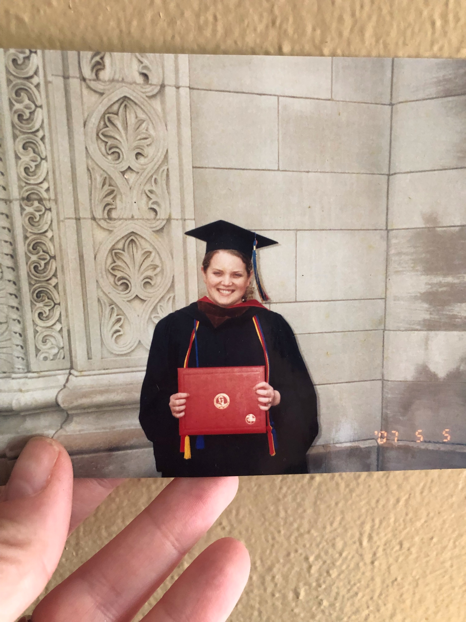 May 5, 2007 Graduating from Kendall College in Grand Rapids, MI.