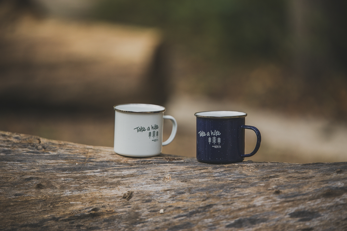 First We Hike, Then We Sip. - SHOP THE CAMP MUG
