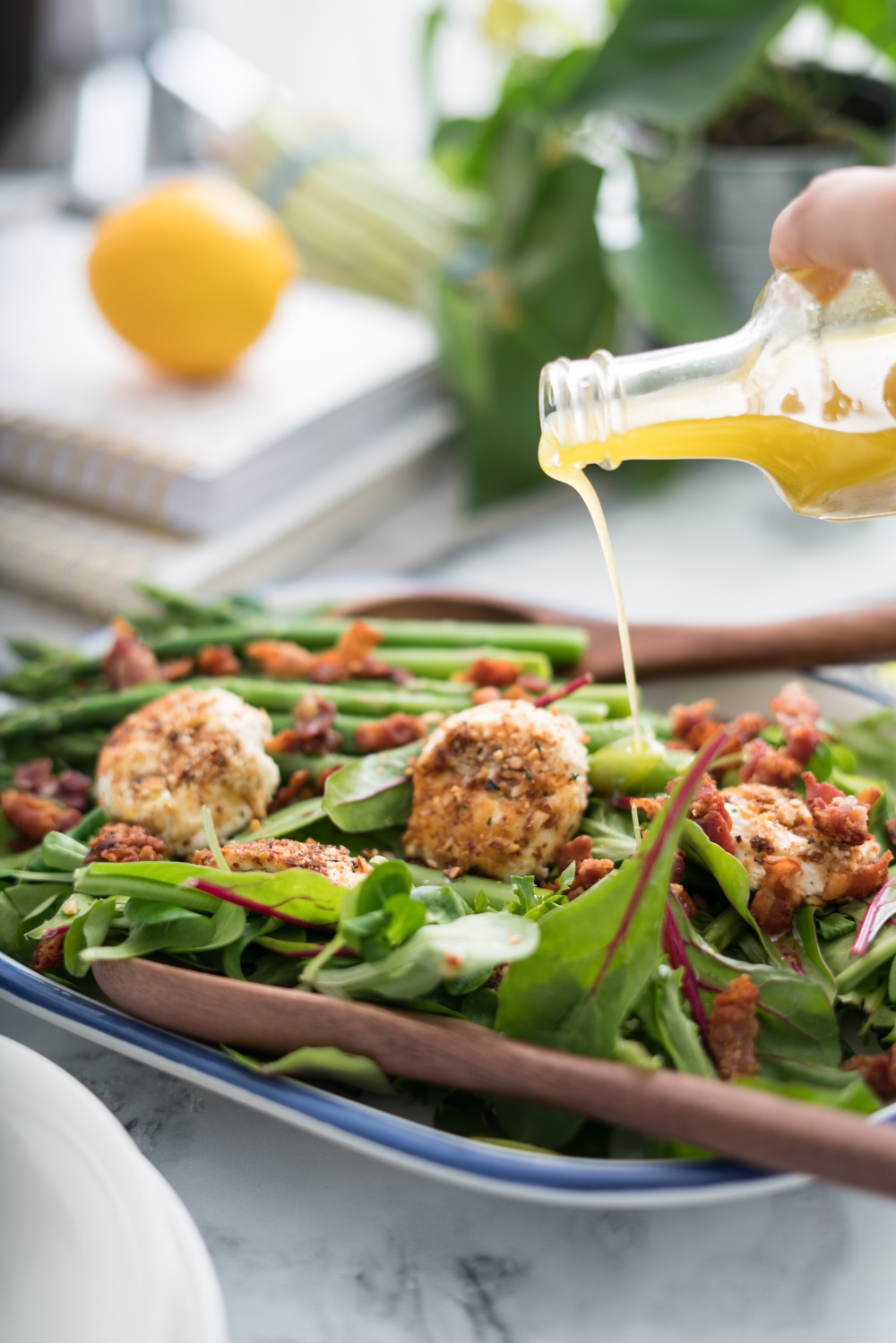 Asparagus, Bacon, and Goat Cheese Bistro Salad