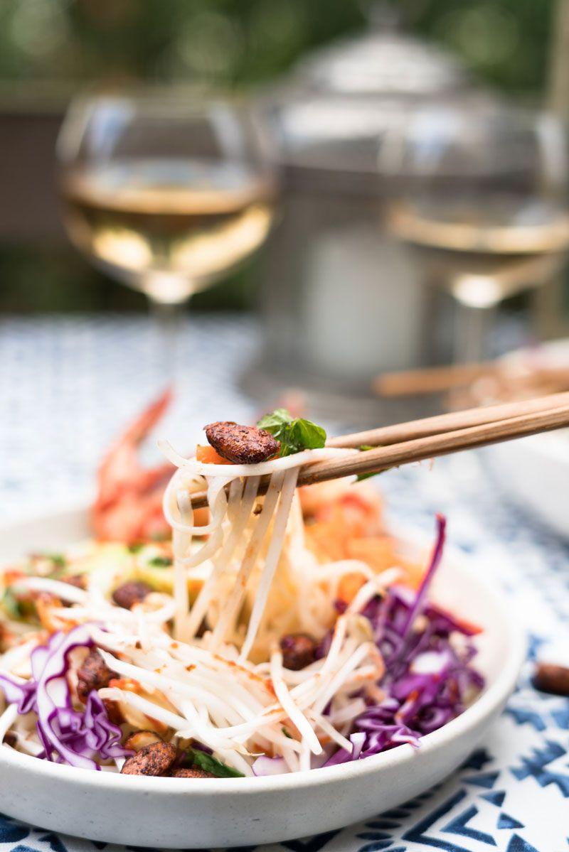 Vietnamese Rice Noodle Bowl