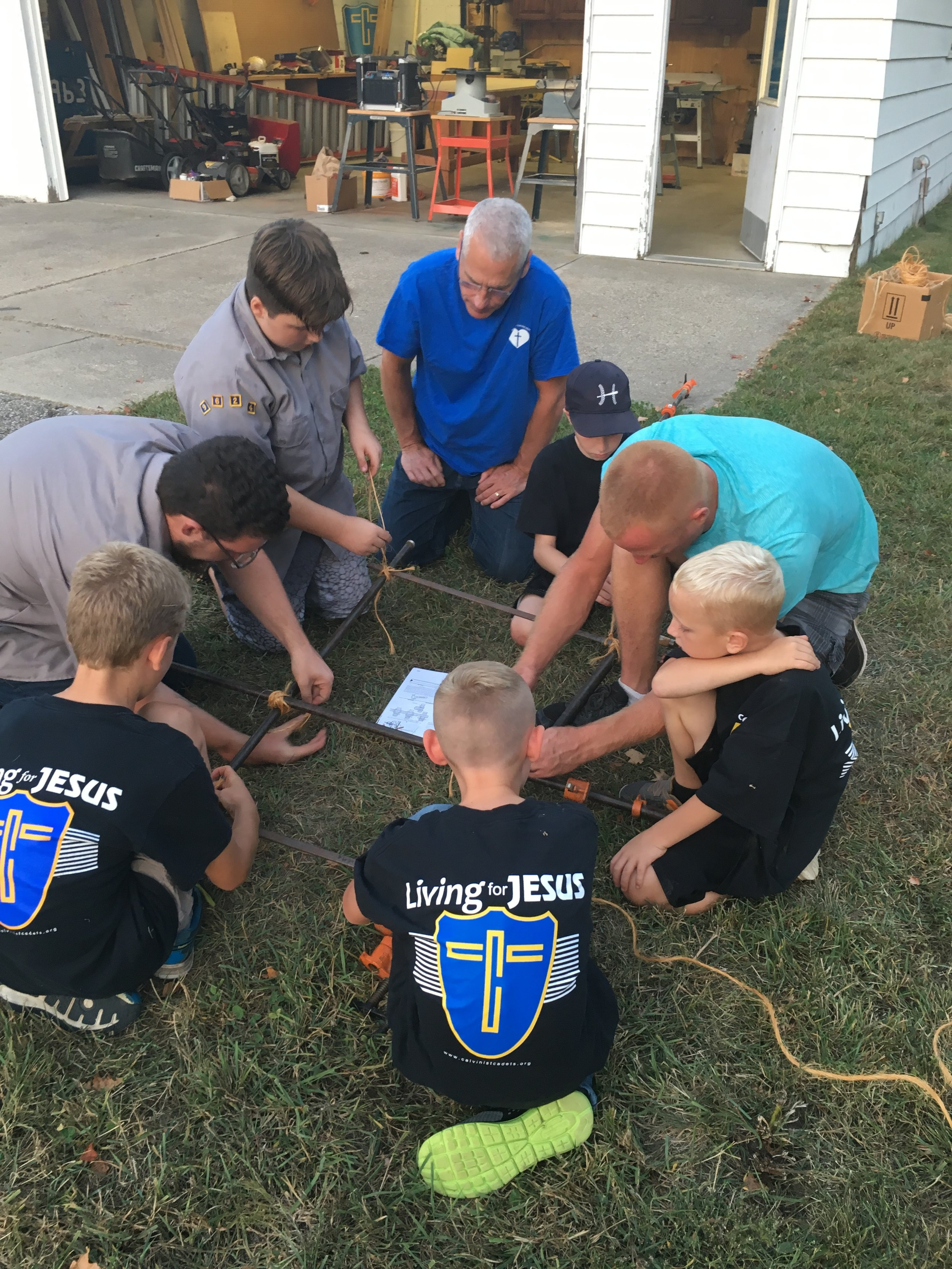 Cadets - Cadets is a ministry for young boys first grade to ninth grade. Through Bible study and discussion, relationship building, and and learning new skills boys discover who God is and how He works in their lives. and in the world.