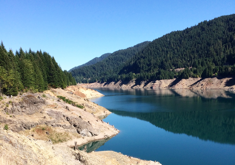 The view of Cougar Reservoir from Aufderheide