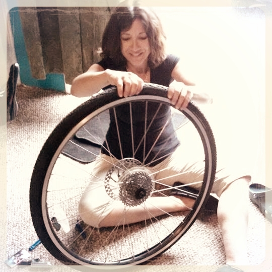 """""""Which one of you rode the bike with the flat tire?"""" I fell on the floor laughing. -"""