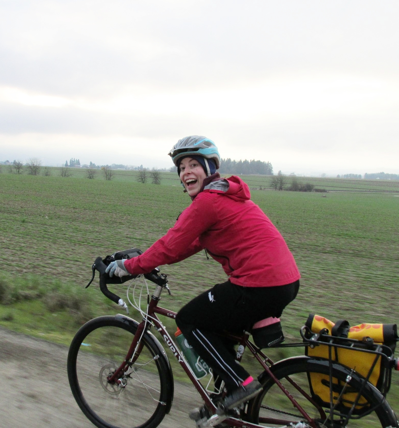 When Katie bicycled across the United States with her boyfriend, she wrote a poem every day. -