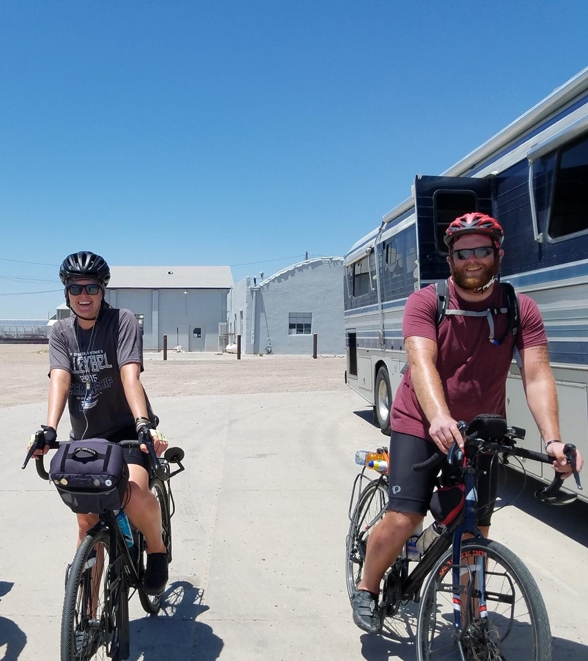 """""""Neither of us had ever toured before, let alone ridden more than 20 miles in one day."""" -"""