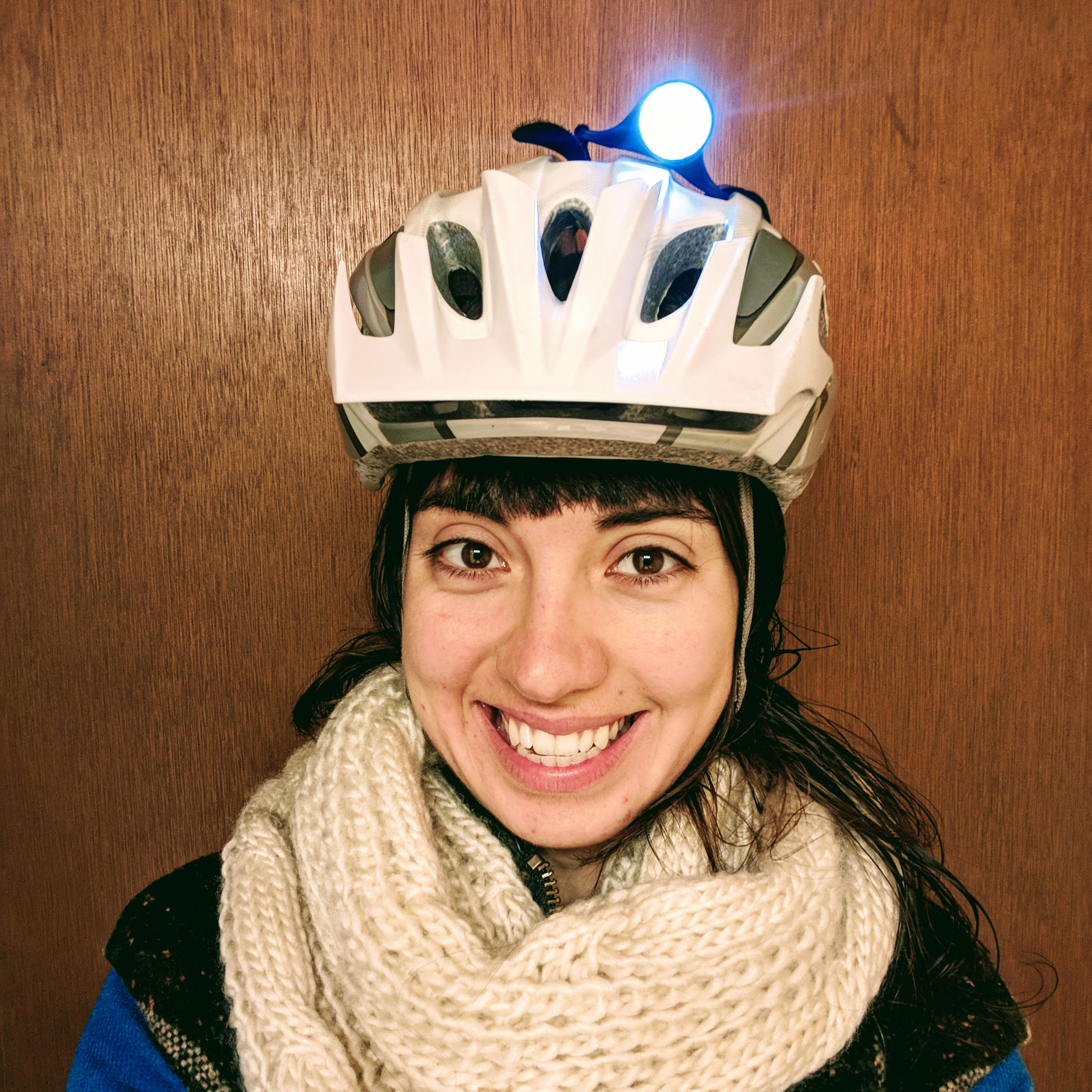 'Tis the season for helmet lights! -