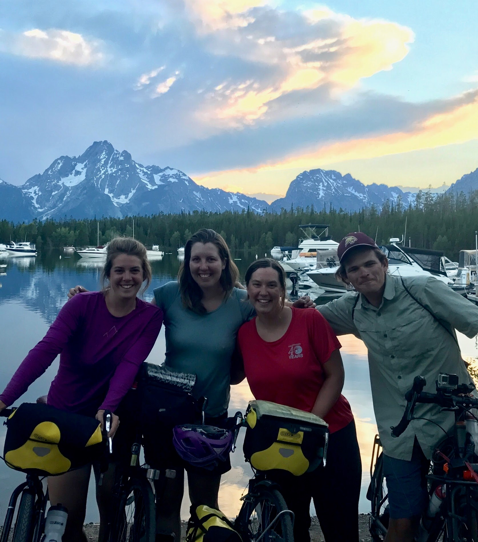 """Upon meeting and joining other cyclists, I felt a sense of ease, connection, and companionship. The journey turned into a shared adventure."" -"