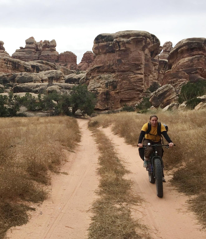 """My brother Joey took me on my first bikepacking trip in Utah… around 85 miles, absolutely beautiful."" -"