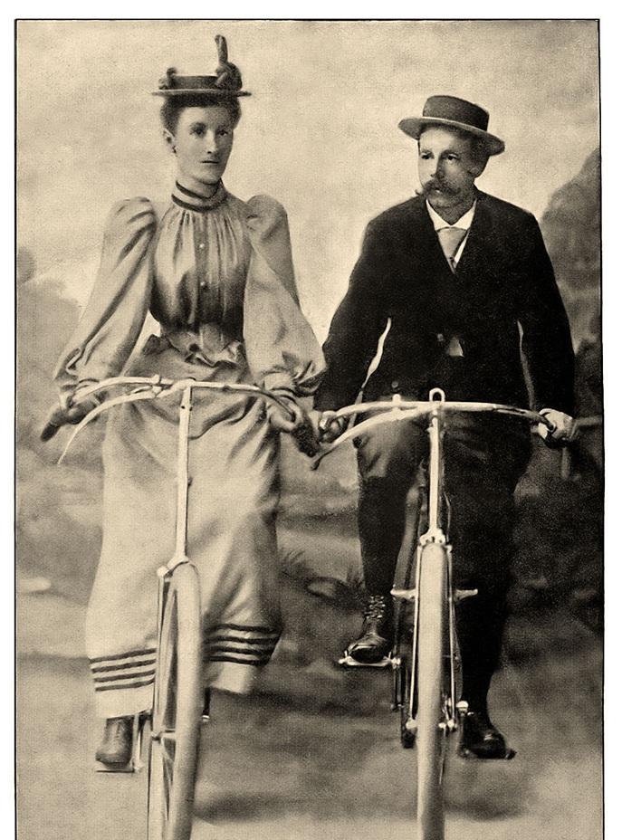 Sarah Maddock & her husband Ernst pedaled over 500 miles in 1894. -