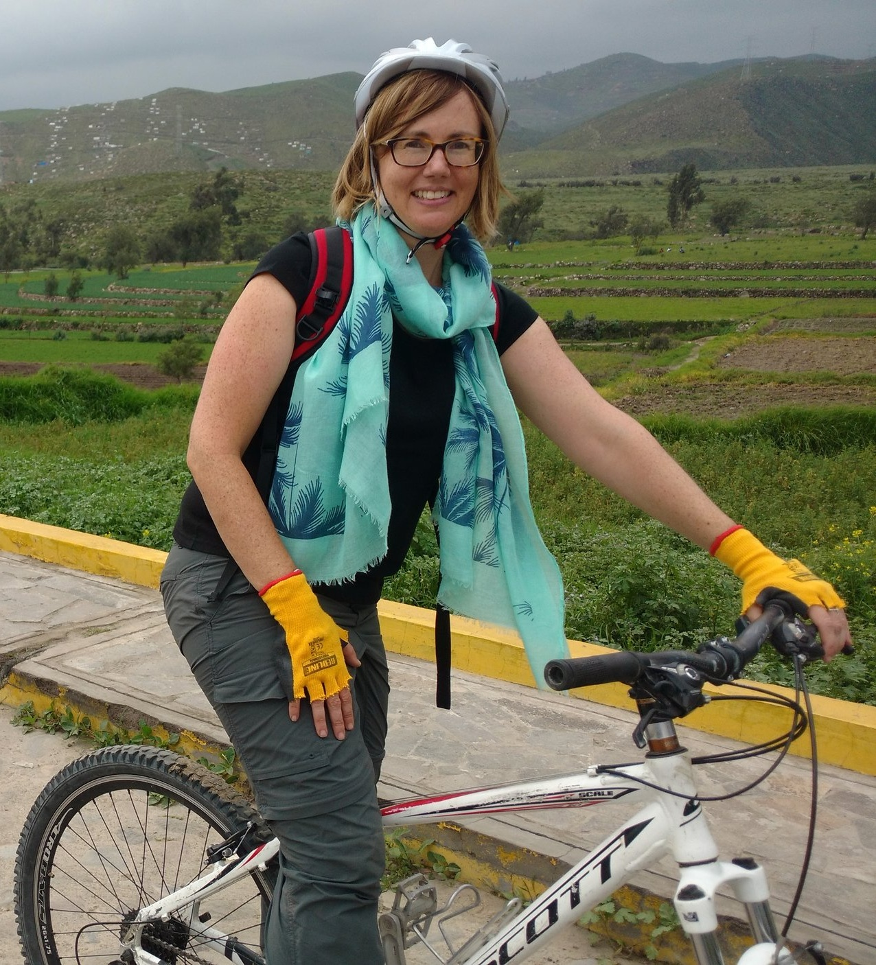 Sarah's partnering with Mulga Bicycle Tours so that others may join the ride. -