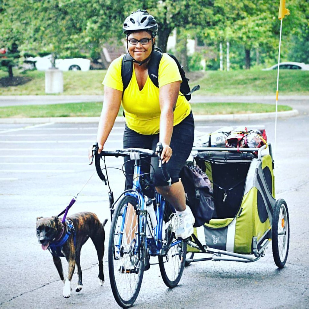 """Both my pup and my bicycle saved me from the debilitating symptoms of Major Depression."" -"