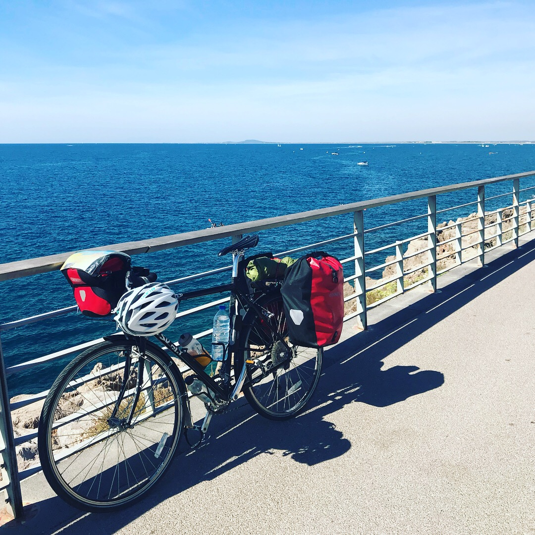 """""""I skipped between jobs, trying to find something I loved. The idea of biking always came to my mind as a solace from the complications. I wanted to be near the ocean, on long open roads."""" -"""