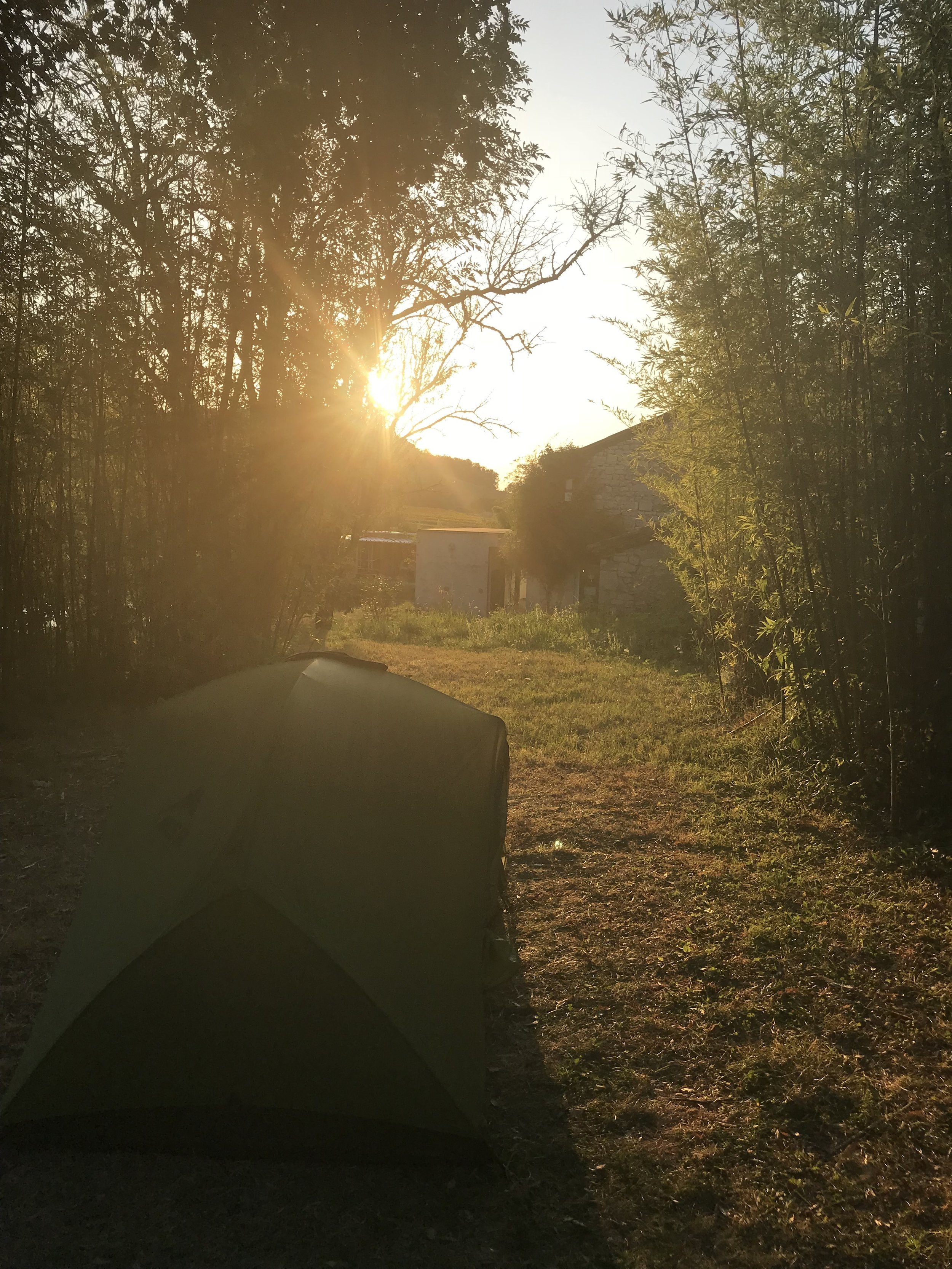 """""""In advance, I'd found some campsites along my route, but I also just figured it out along the way."""" -"""