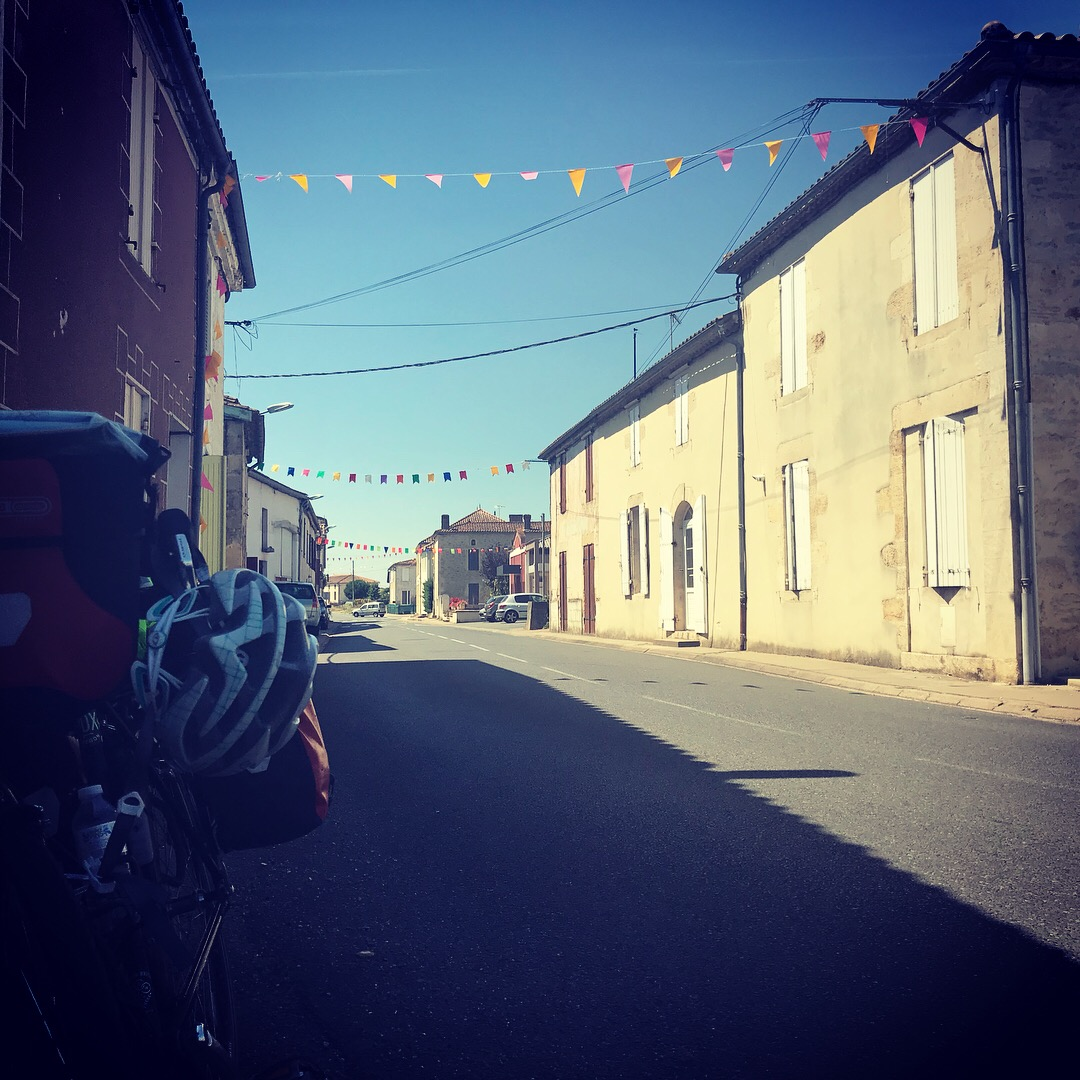 """""""I rode through small Spanish towns, where I had delicious pastries and coffee, met friends of friends for tapas, and saw some amazing old churches."""" -"""