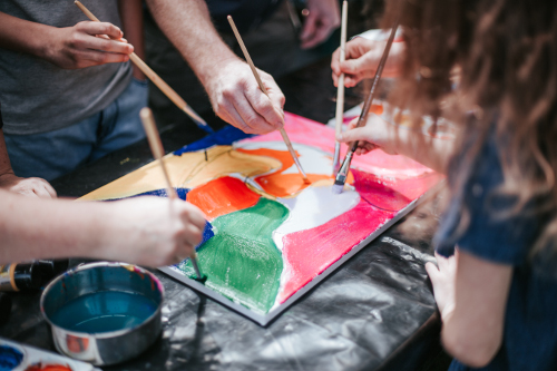 Family/Siblings Art Workshops - These workshops focus on building positive relationships, establishing healthy boundaries in a fun environment, whilst experiencing different art techniques to create a group art piece to take home.3 Family members - $290 - 3 Hours (All art material and GST included)($60 each extra family member)