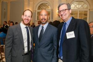 L-R David Greenfield, CEO, Met Council, Bronx Borough President Ruben Diaz Jr., Jeffrey Moerdler Esq., Met Council Volunteer of the Year
