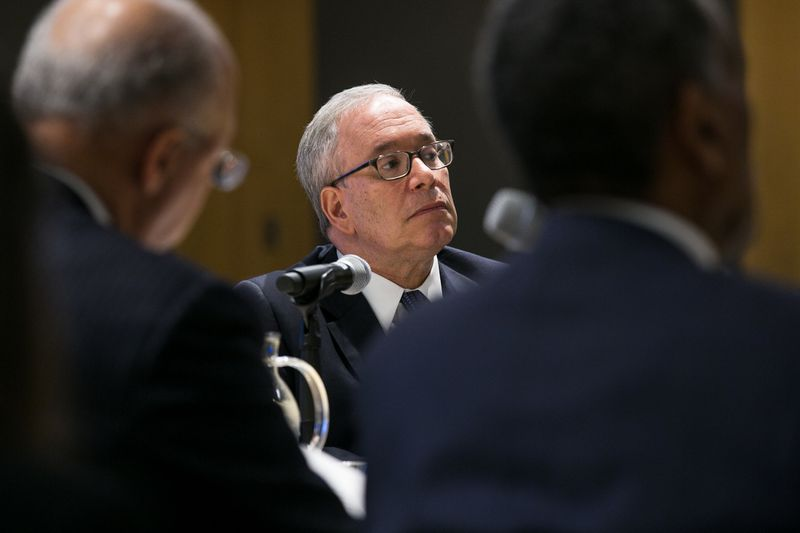 A review by Controller Scott Stringer (center) found that 81% of new and renewal contracts in the city were sent to his office for registration after the contract's start date had passed. (Shawn Inglima for New York Daily News)