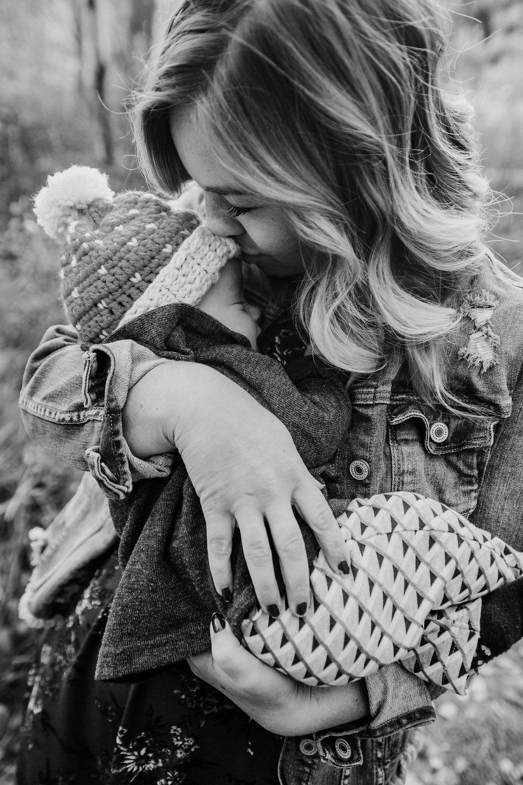 family photography black and white baby cache valley logan utah calli richards