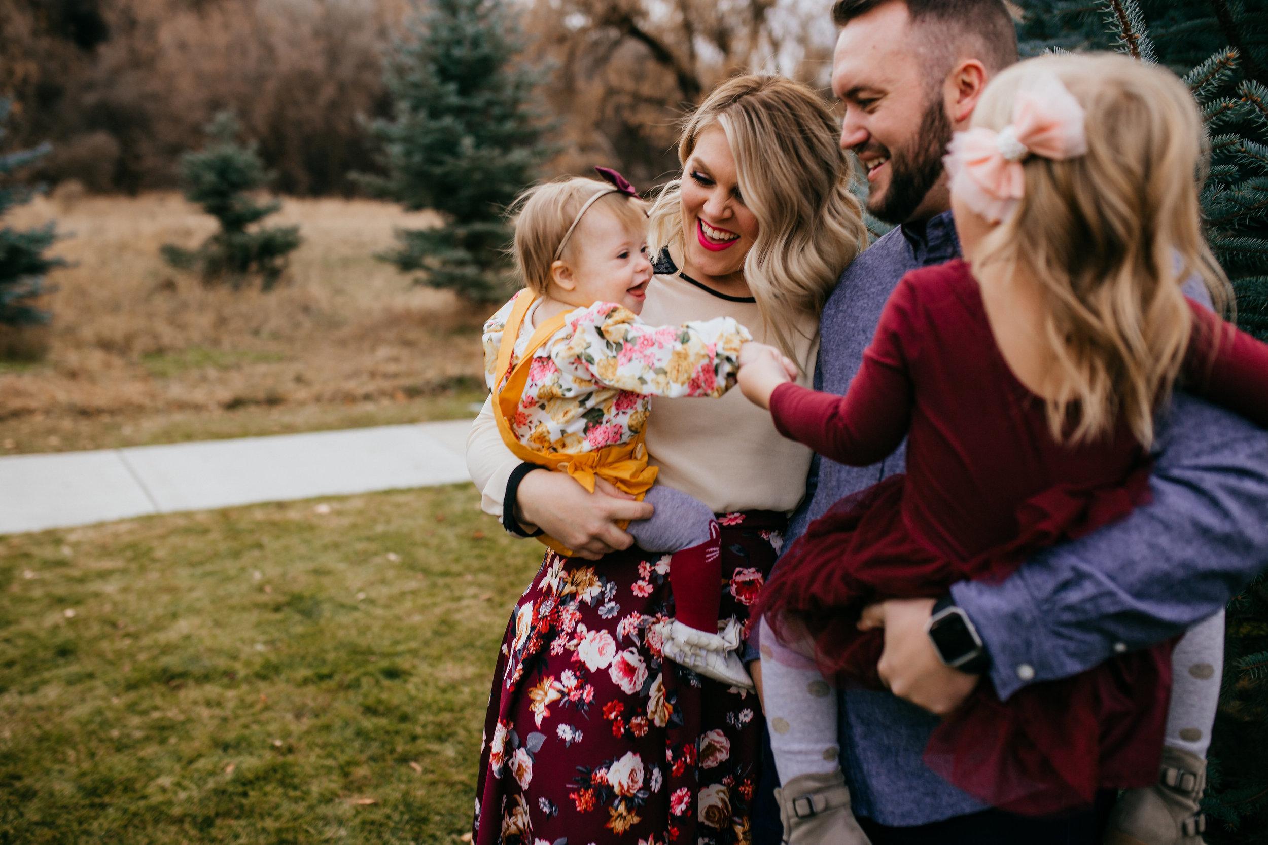 professional family photo session logan utah baby toddler family of girls