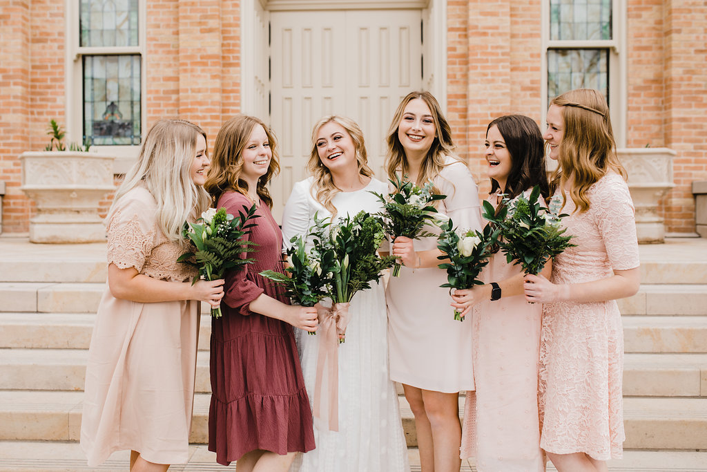 bridesmaids shot wedding photography provo utah