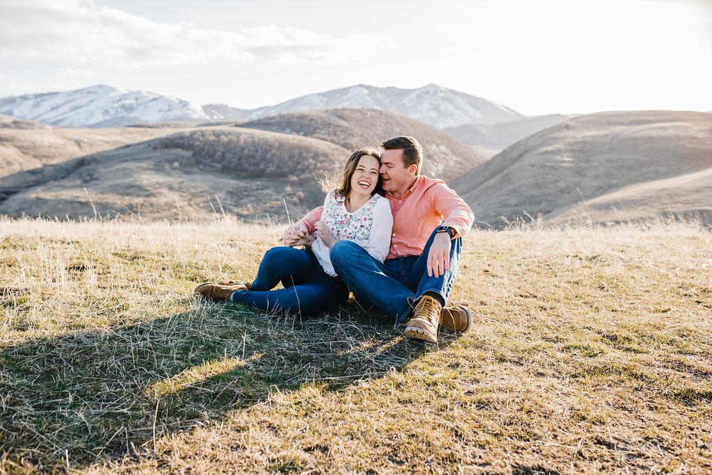 relaxed romantic engagement photography logan utah