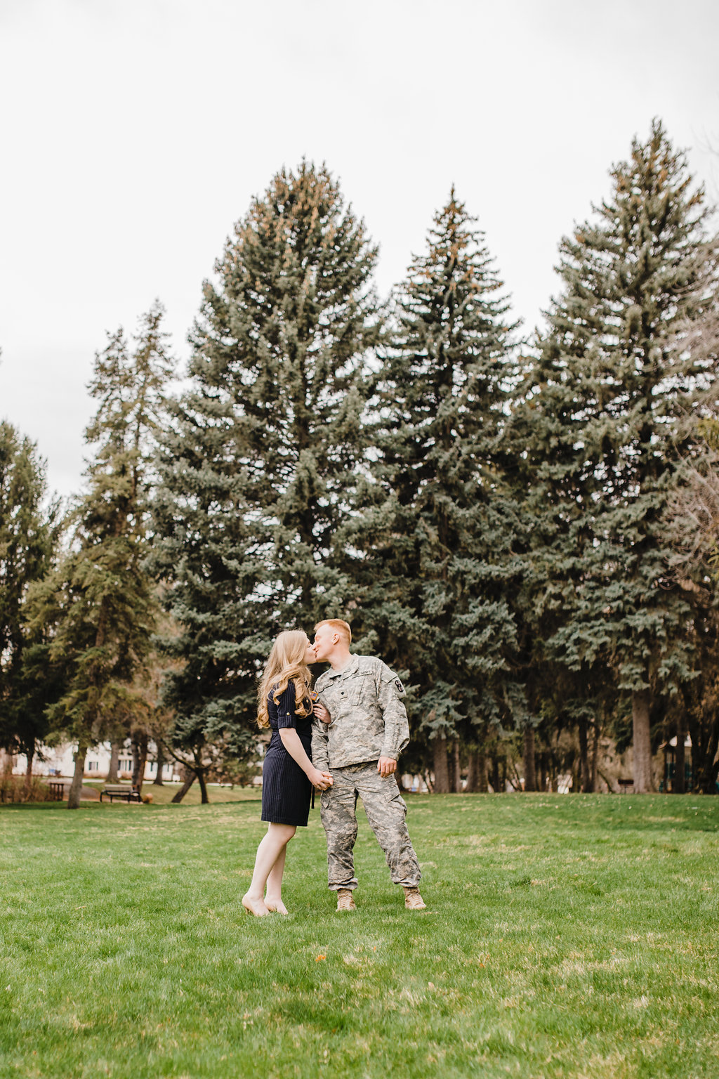 cache valley utah military engagement photography adventurous couples