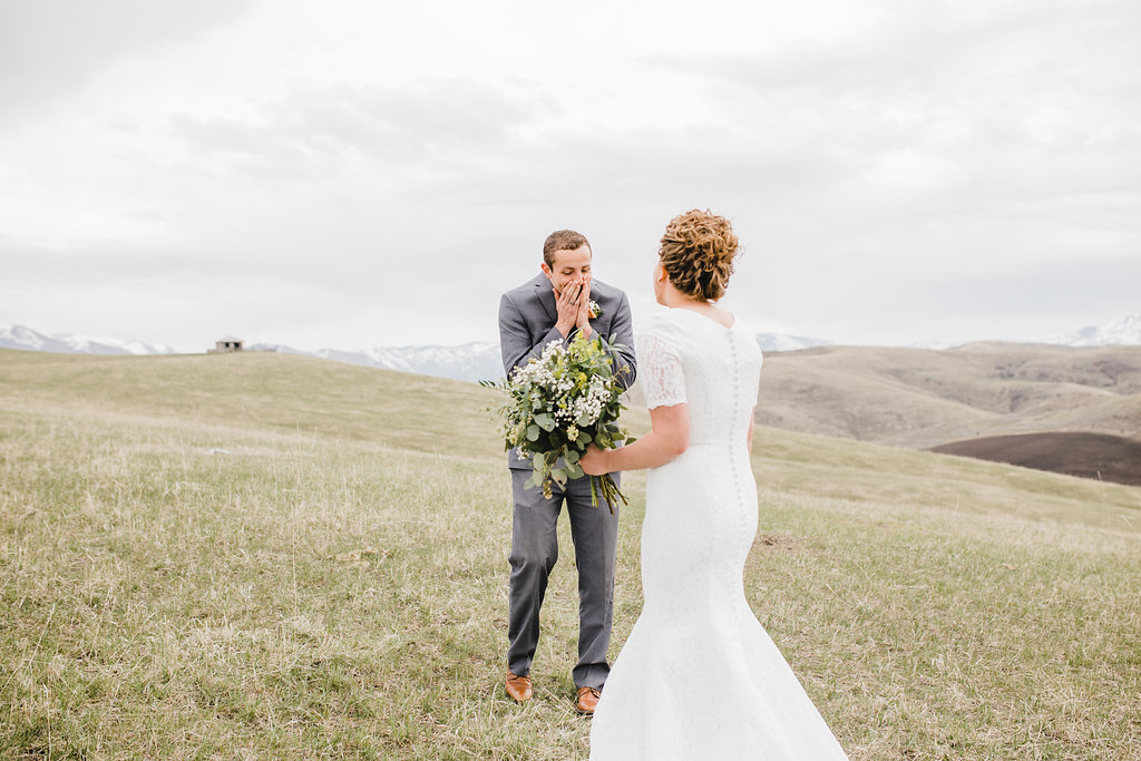 first look formal wedding photographer professional paradise utah
