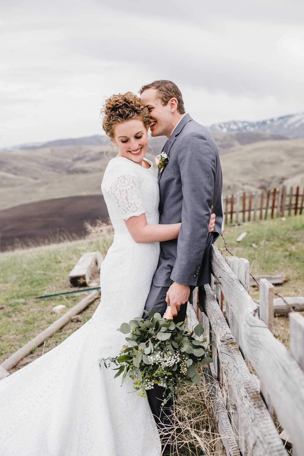young couple so in love bride and groom cache valley paradise utah natural posing wedding photography