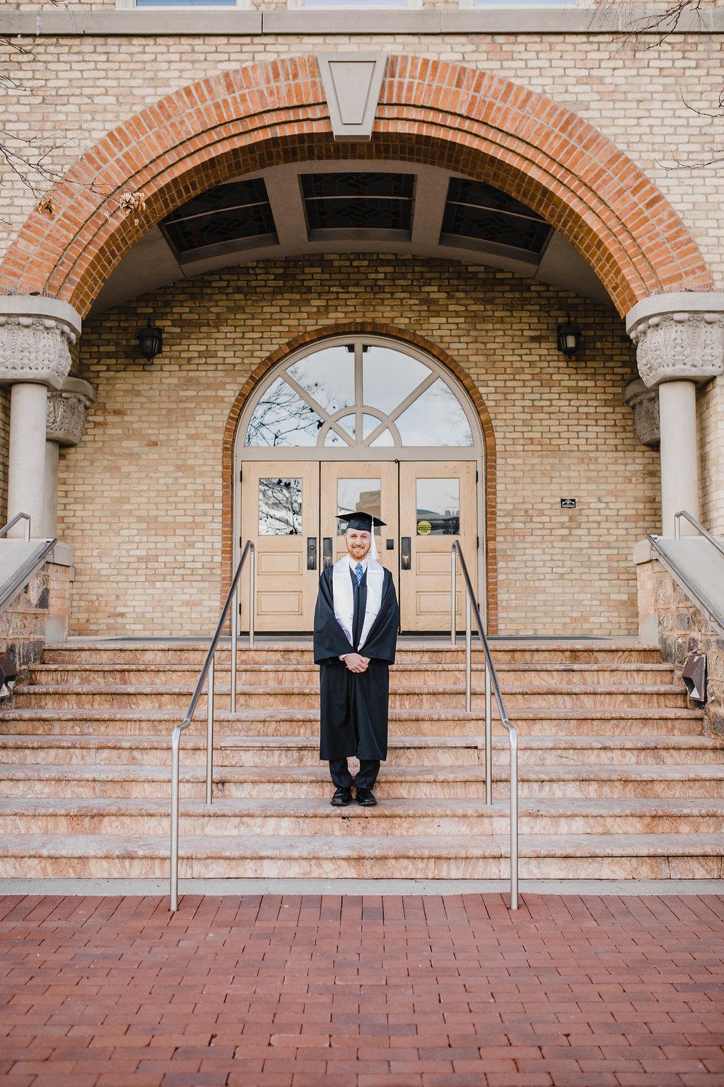 logan utah college graduate photo session calli richards