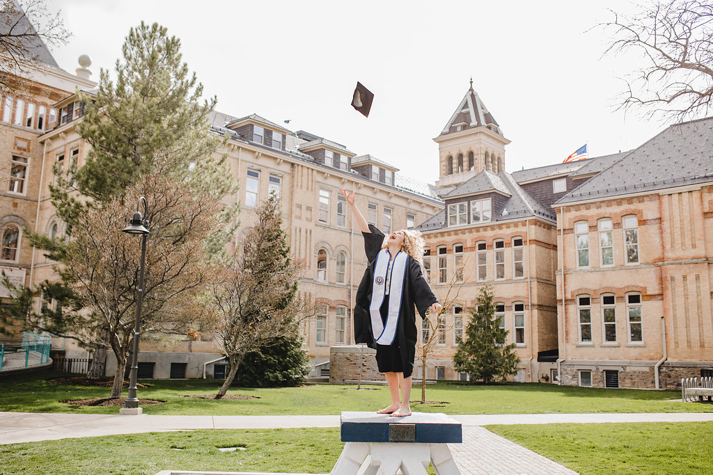 graduation logan utah state university cap and gown pictures
