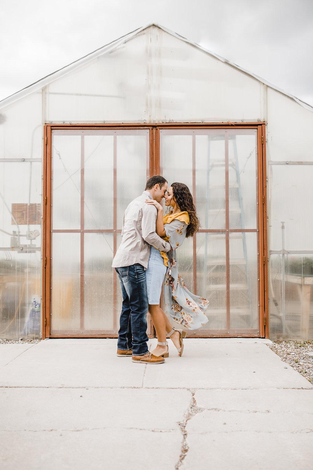 greenhouse wedding romantic engagement photographer logan utah
