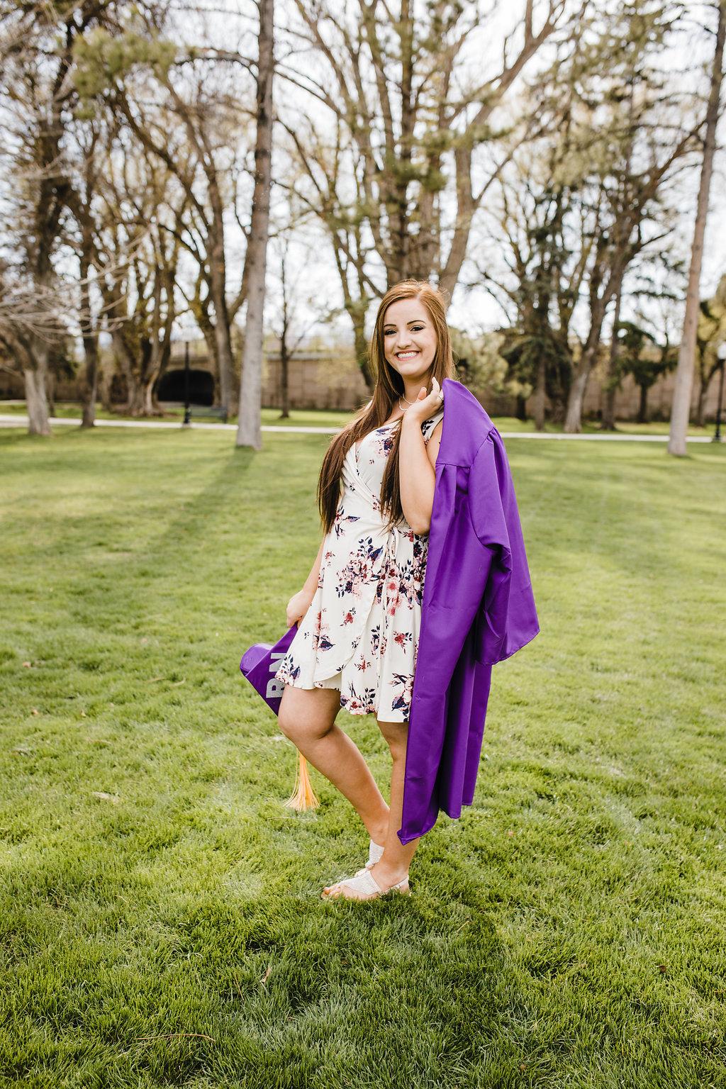 graduation cap and gown photos senior pictures logan utah