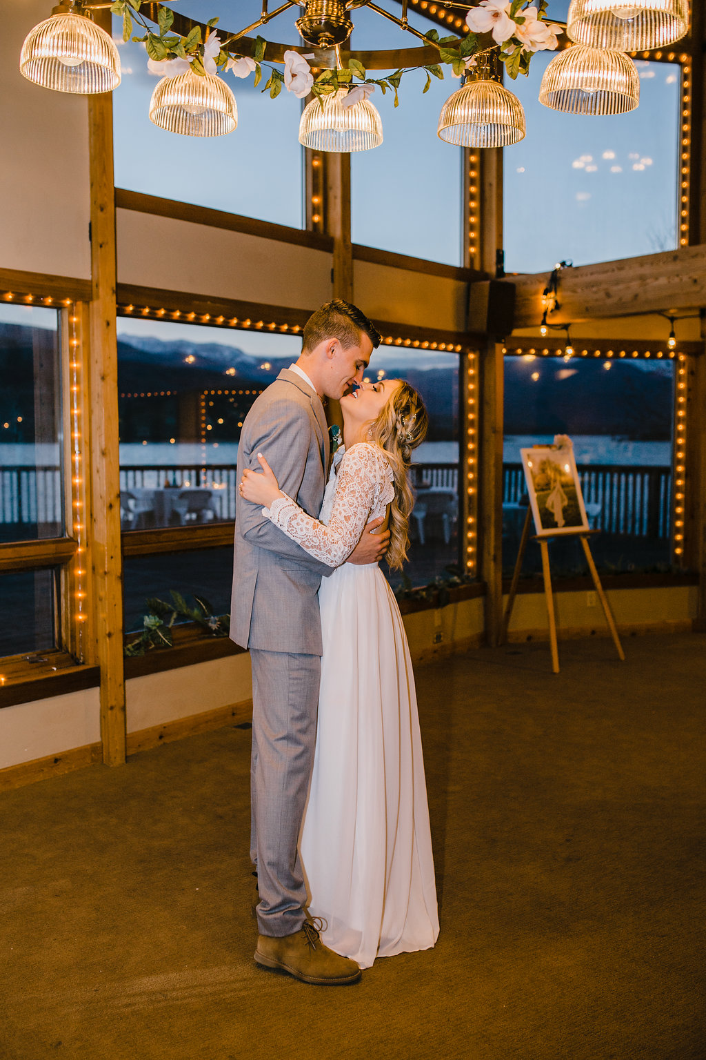 northern utah wedding photographer park city midway bride and groom first dance at the reception