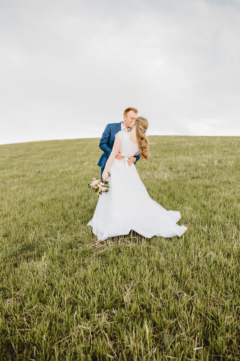 northern utah cache valley logan wedding photographer formals photography session with the bride and groom on a mountain