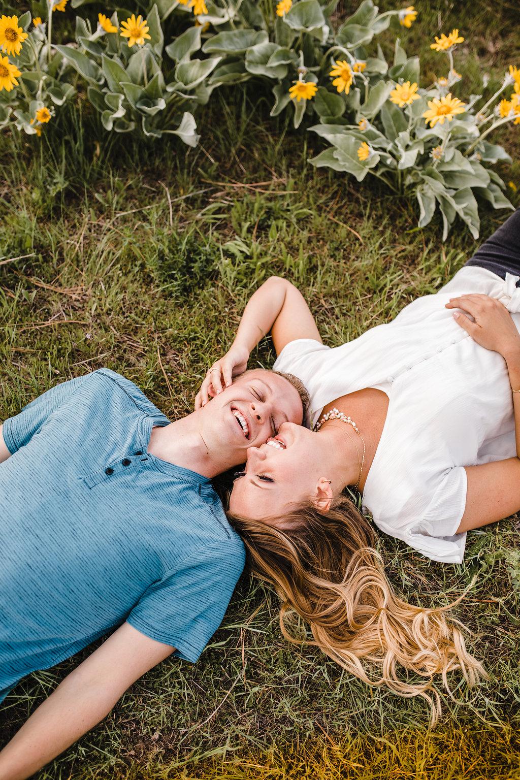 romantic engaged couple professional photographer calli richards logan utah engagement photography