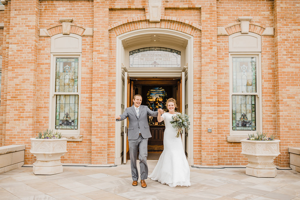 lds couple exit professional wedding day photos provo utah