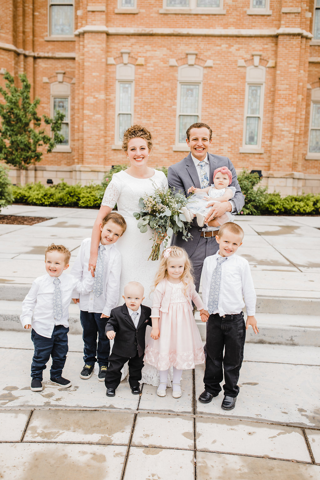 provo city center lds temple best professional wedding photographer lds bride young children