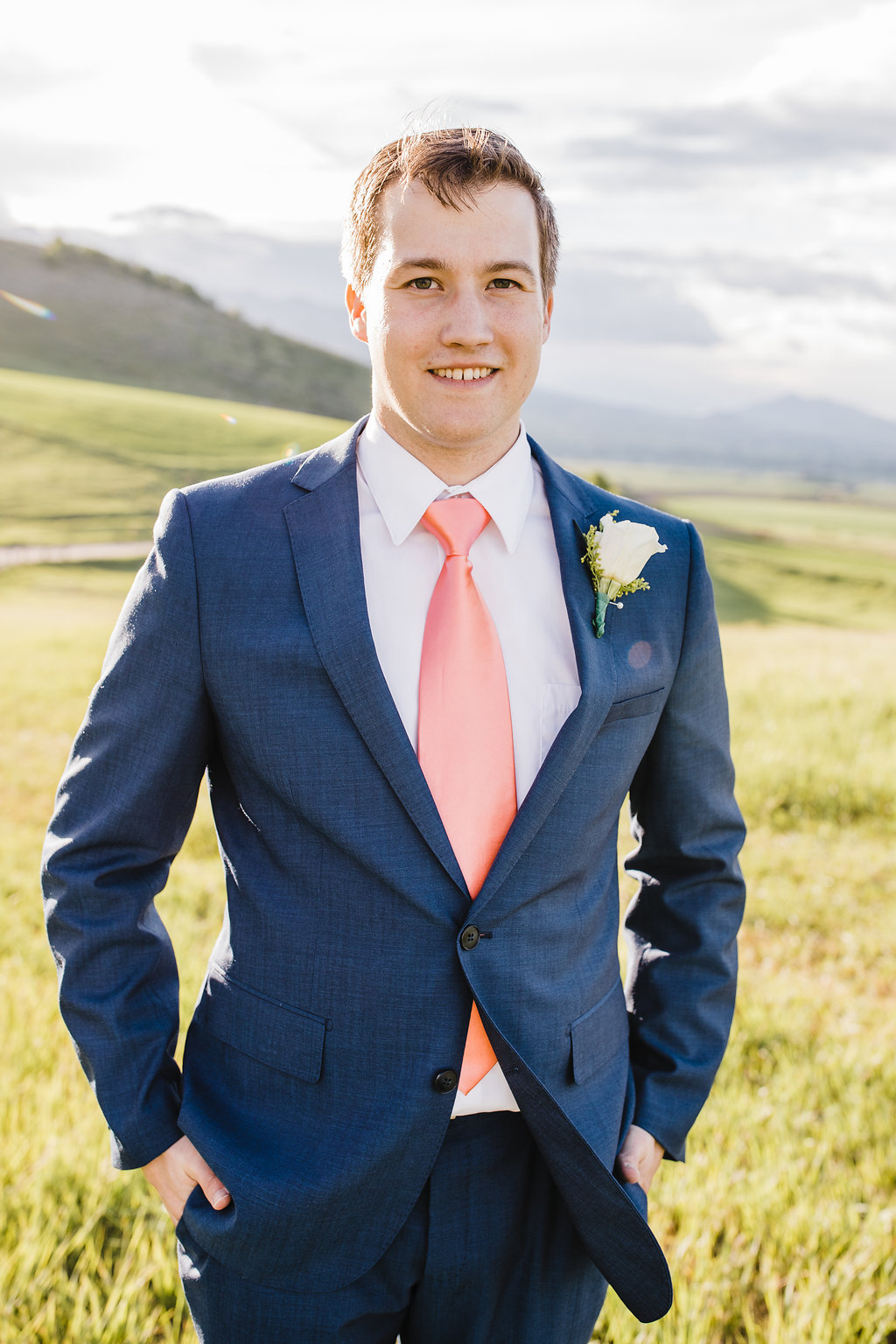 navy suit groom wedding photography mountainous formals photo shoot in logan utah